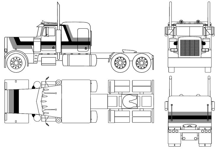 optimus prime truck blueprints pictures