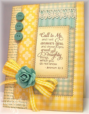 Look the quilt look of this card.