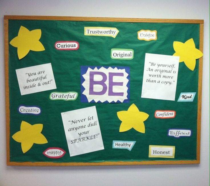 """Super Easy """"BE"""" Bulletin Board For School Nurse Office. A"""
