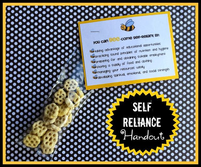 Self-Reliance handout and lesson idea. From Marci Coombs' Blog