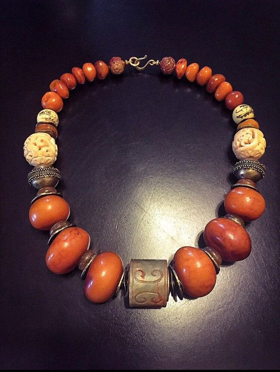 Hey, I found this really awesome Etsy listing at https://www.etsy.com/listing/237141286/tibetan-necklace-copal-amber-qing
