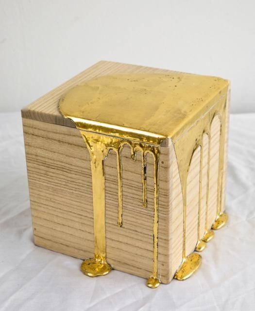 Gold Pour Box | pdx contemporary art, Nancy Lorenz
