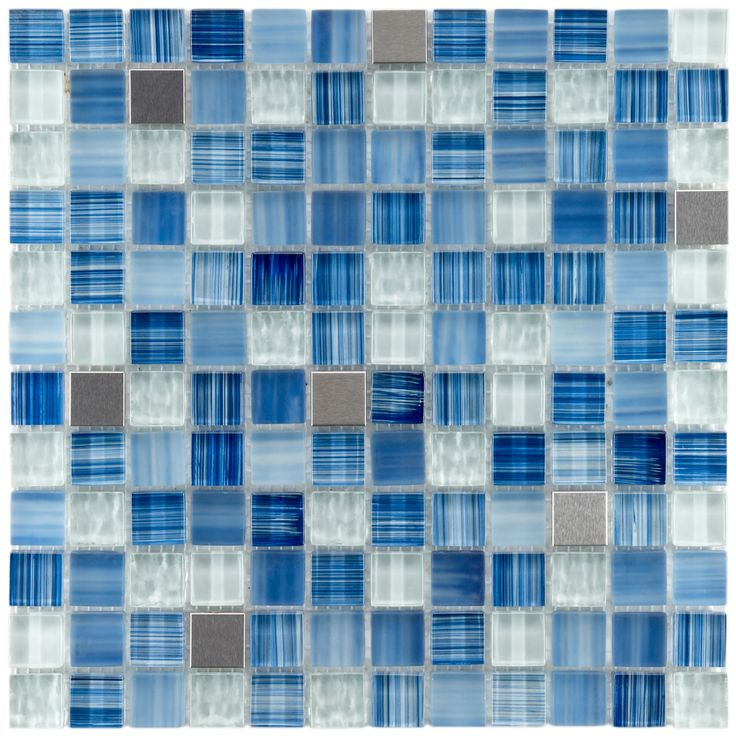 Somertile Reflections Square Alpine Glass/ Metal Mosaic Tiles (Pack of 10) - Overstock Shopping - Big Discounts on Somertile Wall Tiles