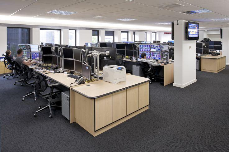 "DRC group - Trading Room with ""Ultra"" Dealing Desks #design #interiordesign #fitout #dealing #desks #trading #room"