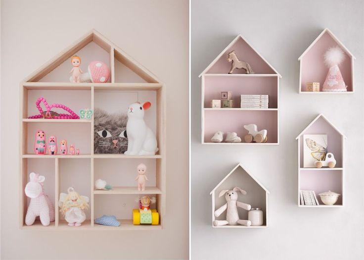 Полки-домики для игрушек