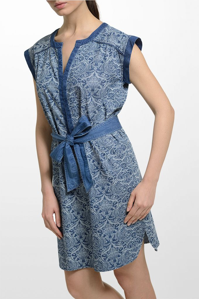 Sarah Lawrence - printed belted dress.