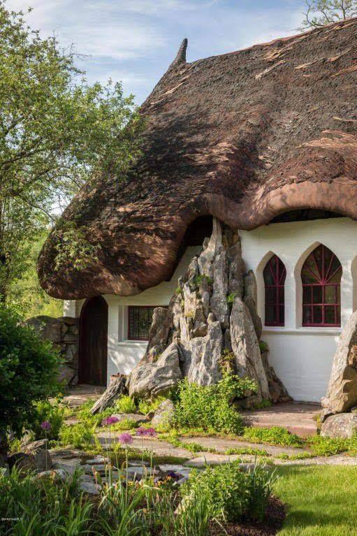 1750 B B In Tyringham Massachusetts Englische Land Garten Haus Malen Reetdachhaus