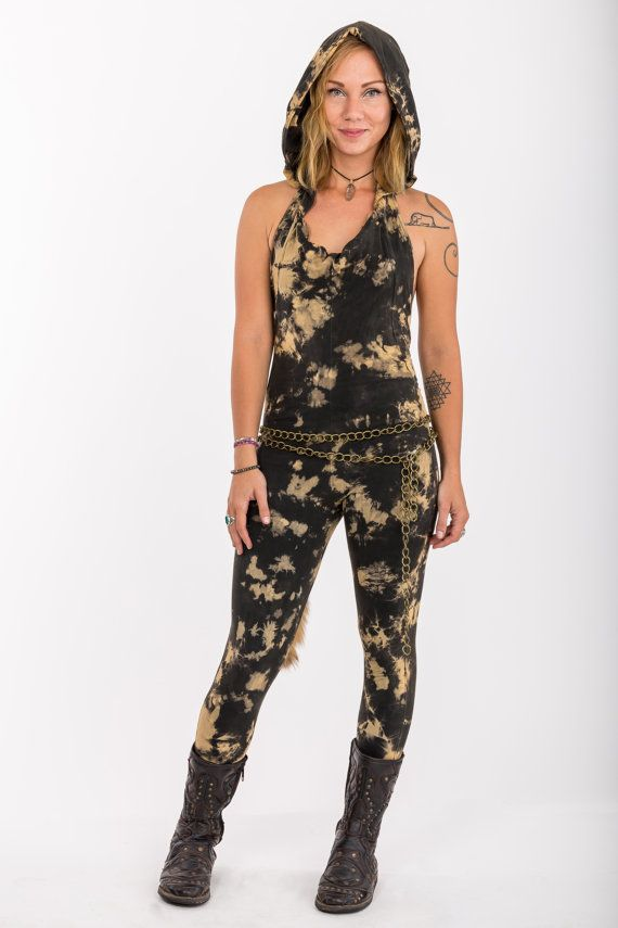 Warrior Playsuite  army tie dye catsuit romper by Alienelia
