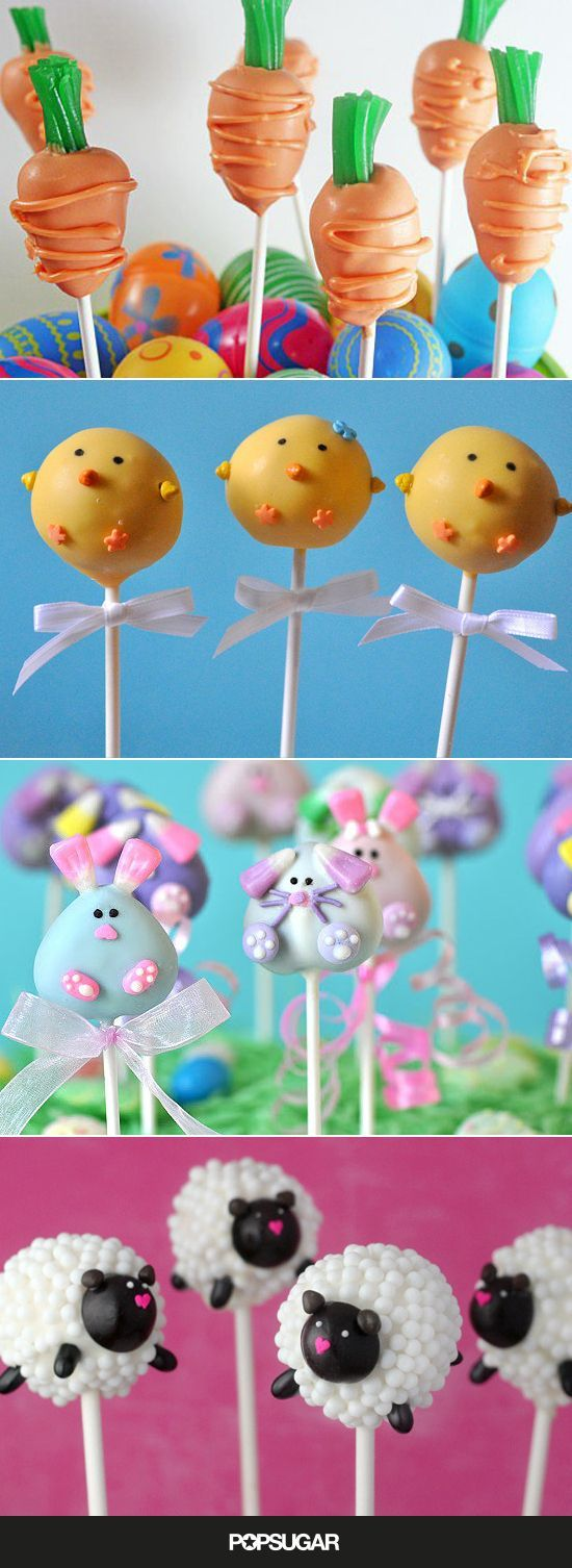 Such cute cake pop ideas for Easter you kids will LOVE!
