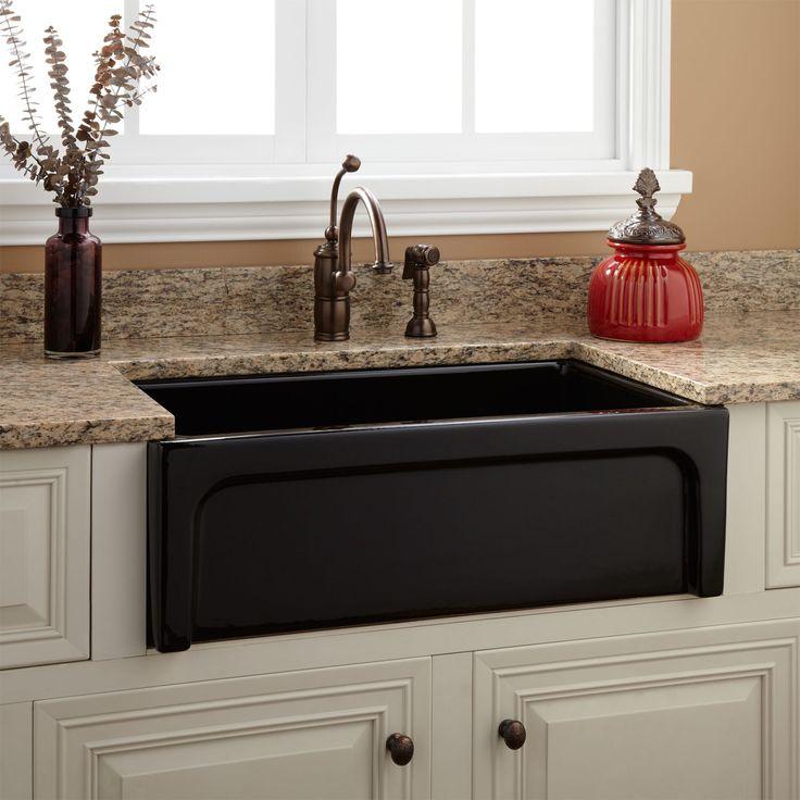 30 risinger fireclay farmhouse sink casement apron black. Interior Design Ideas. Home Design Ideas