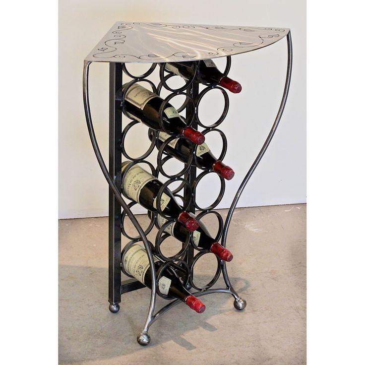Corner Wine Cabinet Black