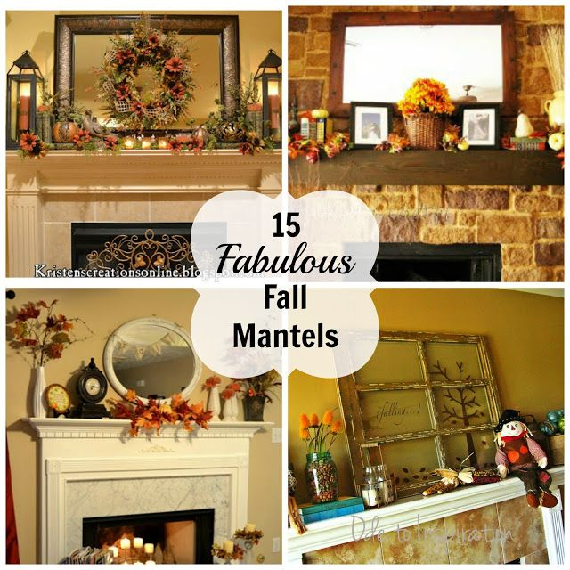 Decorating Ideas for Fall--15 Fall Mantels: Mantles Decor, Decor Ideas, Fall Decor, Fall Mantels, Fall Mantles, Decor Fall, Mantels Ideas, Decor Mantels, Fabulous Fall