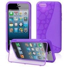 Forro iPhone 5C - Gel con Soporte Violeta  Bs.F. 73,50