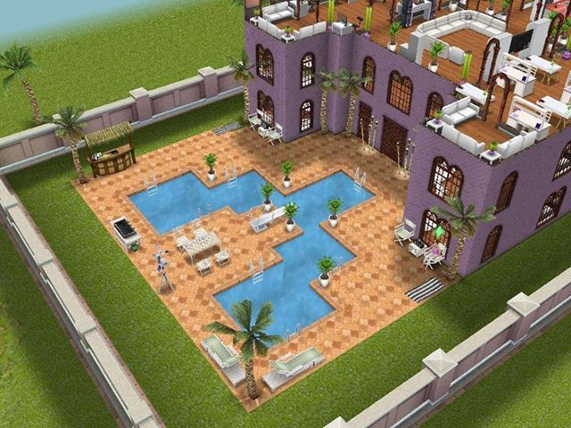 17 best images about sim freeplay on pinterest pool for Pool design sims 3