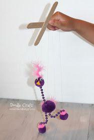 Easy Silly Bird Marionette DIY tutorial! ~ bird craft