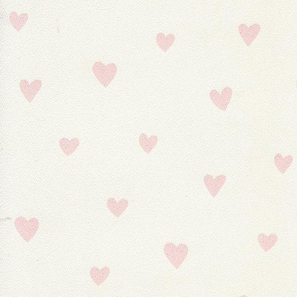 Behang Kinderkamer Wit met Roze Hartjes van Inke