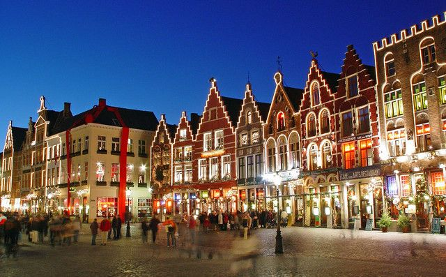 Christmas in Bruges, Belgium  With cobbled streets, medieval buildings and pretty canals, Bruges is one of the most fairytale-perfect cities for a Christmas market.