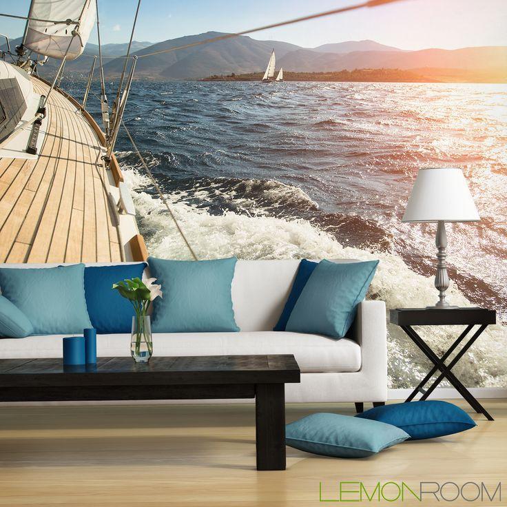 Fototapeta Jacht w słońcu: