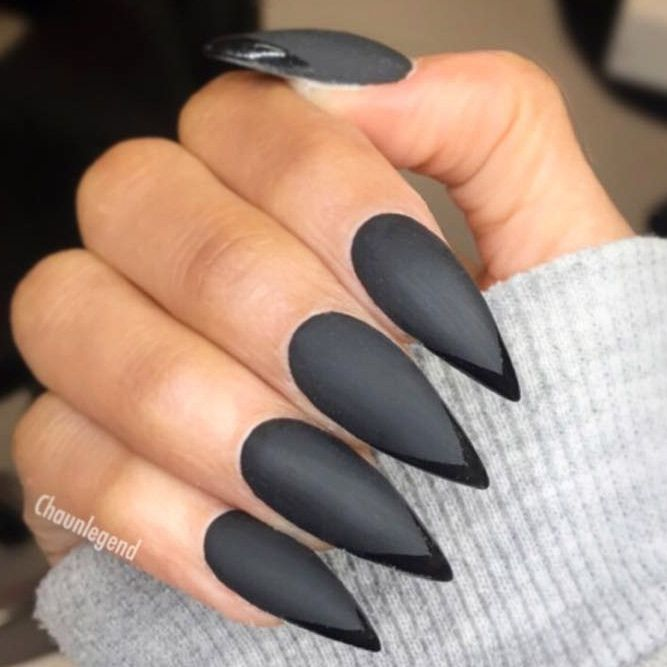 44 Stunning Designs For Stiletto Nails For A Daring New Look Matte Stiletto Nails Stiletto Nails Stiletto Nails Short