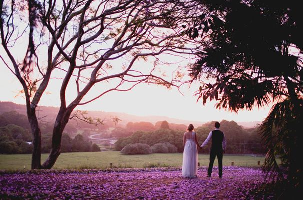 The Fig Tree Restaurant - Ewingsdale - Byron Bay when the Jacarada's are out it is incredible..