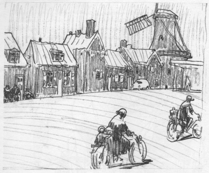 Анатолий Владимирович Кокорин (1908–1987гг). Рисунки из альбома «Голландия»