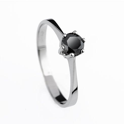 Inel cu diamant negru DR1219