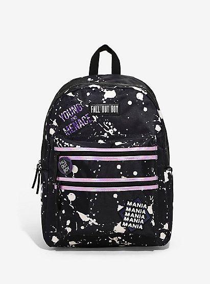 14c769ee3b4 Fall Out Boy Paint Splatter BackpackFall Out Boy Paint Splatter Backpack