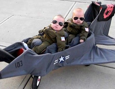 Hilarious! Goose and maverick... I want twin boys just so I can do this!!!!