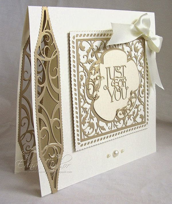 Blog tonic: Just for you - a card from Edna