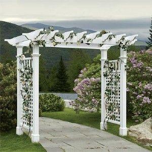 new england style wedding garden arbor trellis wide