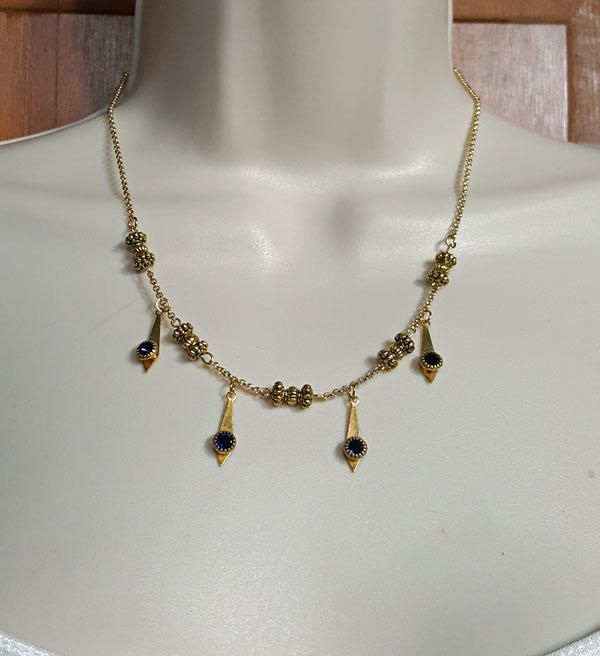 Art Deco Necklace by K. Lynn Designs