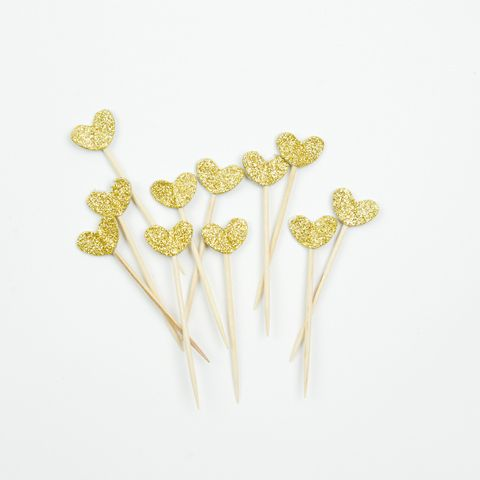 Gouden Glitter Cupcake Toppers Klein | sdecorations.nl