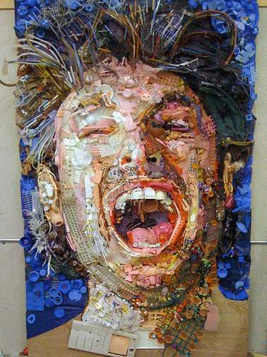 Phenomenal Junk Portraits by Tom Deininger -- http://www.trendhunter.com/trends/tom-deininger