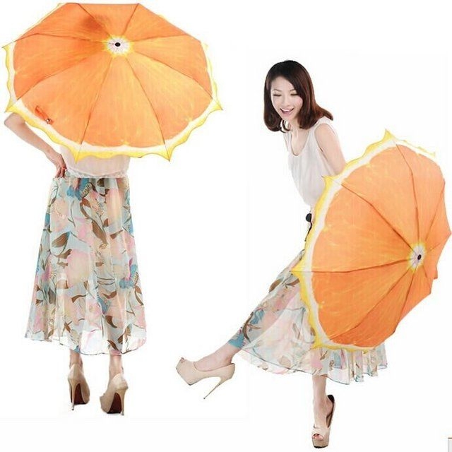 Fancy - Orange Shaped Umbrella