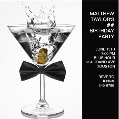 22 best images about Mens Birthday Party Invitations – Customize Party Invitations