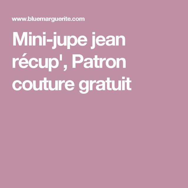 Mini-jupe jean récup', Patron couture gratuit