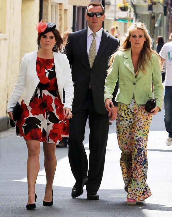 La princesa Eugenia y Cressida Bonas asisten a la boda de Rupert Finch