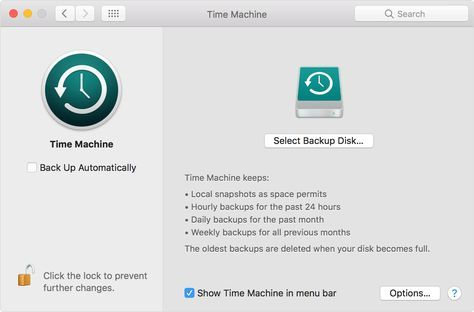 Use Time Machine to back up or restore your Mac