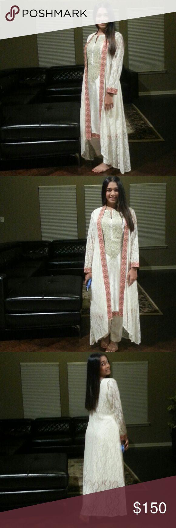 White salwar kurta New Dresses