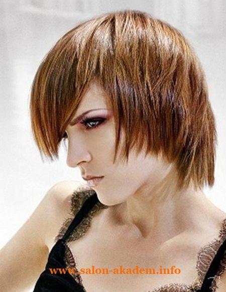 """Стрижка каскад на короткие волосы с косой челкой фото #Фото <em>как сделать боб из челки</em> Вернуться в раздел """"Причёска каскад на короткие волосы"""" http://www.salon-akadem.info/strizhka-kaskad-na-korotkie-volosy-s-kosoj-chelkoj-foto.php"""