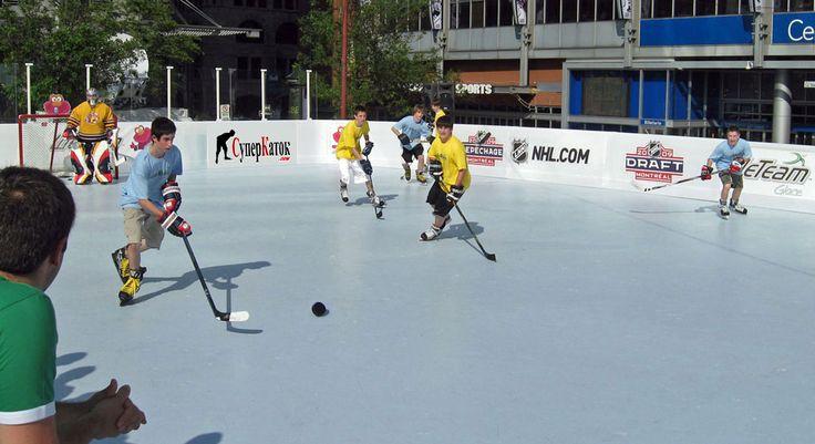 Хоккей везде и всегда. Синтетический лед Супер-Глайд - решение проблемы нехватки тренирочного льда.