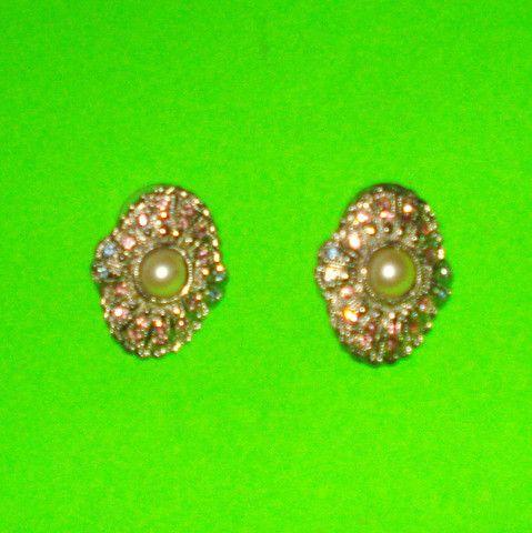 Glam Rhinestone Earrings - Mookie Designs Vintage