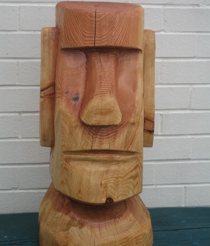 Whittled easter island head google search whittling
