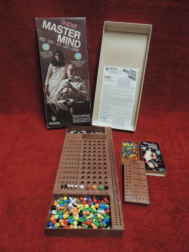 Vintage 1975 Super Mastermind Board Game Complete and