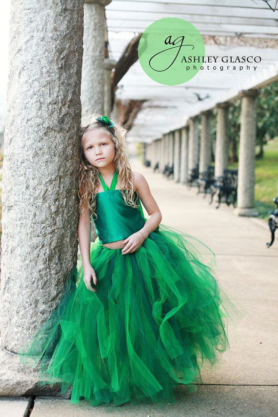Emerald Flower Dresses 109