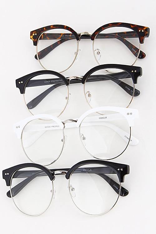 Nerd Clear Glasses with Unique Frame Details