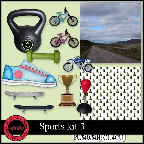 EXCLUSIVE Sport kit 3 CU4CU by Happy Scrap Art