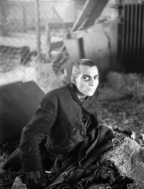 A liberated inmate of the Nordhausen concentration camp, April 1945. He looks distrusting - not surprising considering what he's likely seen and been through.    Once Upon A Time In War