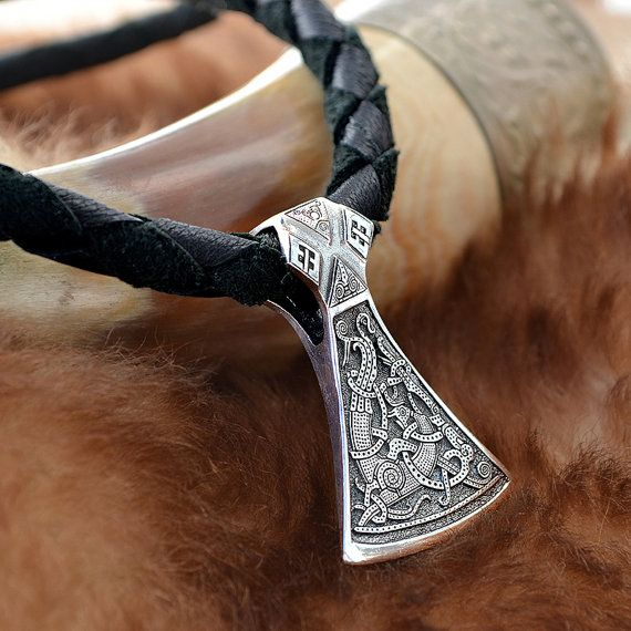 Axe Pendant.    Silver weight: 19 g.  Size: 4.7х3.3 cm (1,85 x 1,3 inches)    The pendant is double-sided    Production technology – casting. Hand made.