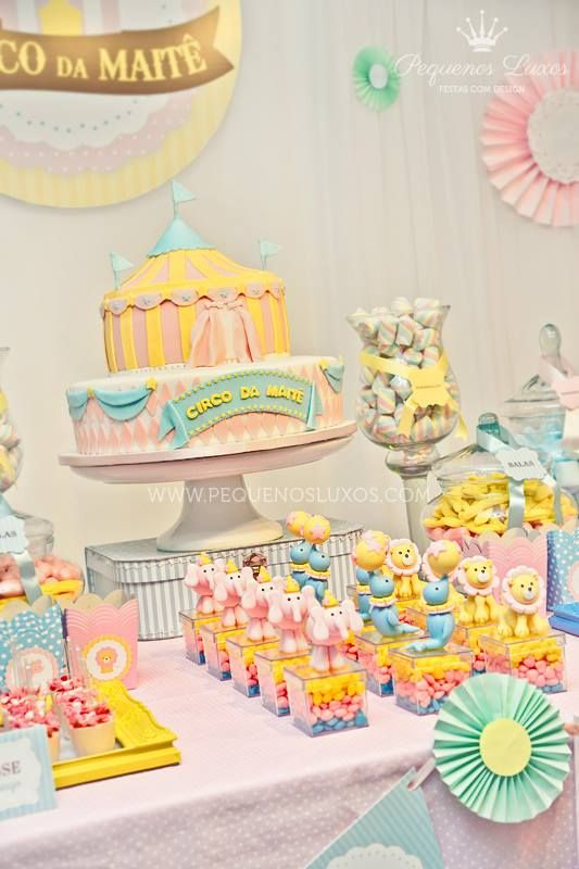 Circus Party Ideas: Girl Party Ideas: Amazing Pastel Circus Party by Pequenos Luxos